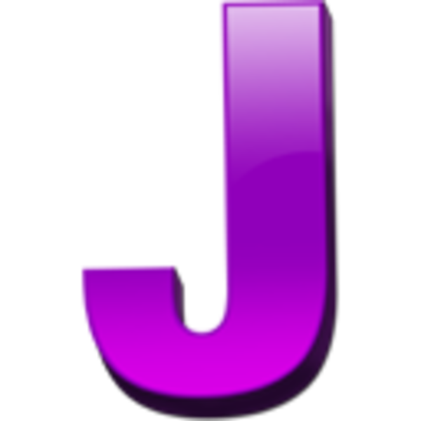The Letter J In Purple Letter j icon 1 image - vector