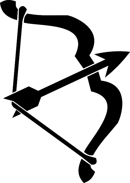 Bow And Arrow Black clip art - vector clip art online  royalty    Indian Bow And Arrow Clip Art