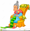 Clipart Old Lady Knitting Image