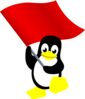 Penguin With Flag Clip Art