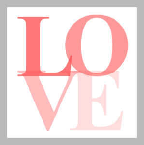 Pink And Gray Love Icon Image