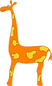 Orange Giraffe Clip Art