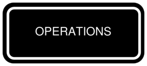 Operations Banner Logo Clip Art