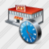 Icon Grocery Shop Clock Image