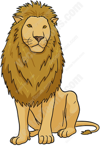 Lion sitting. Clipart free images at