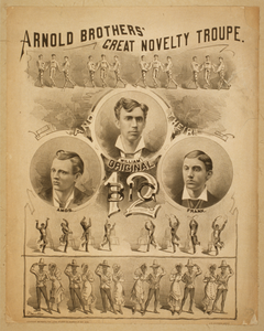 Arnold Brothers  Great Novelty Troupe Original Big 12. Image