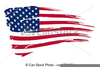 Royalty Free American Flag Clipart Image
