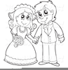 African American Wedding Couples Clipart Image