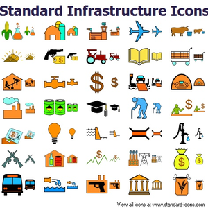 Standard Infrastructure Icons Image