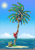 Tropical Florida Christmas Clipart Image
