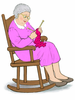 Clipart Old Woman Rocking Chair Image
