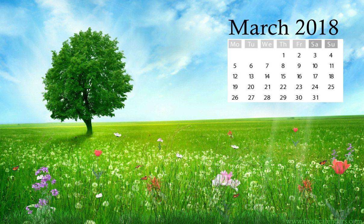 March Calendar Wallpaper Image