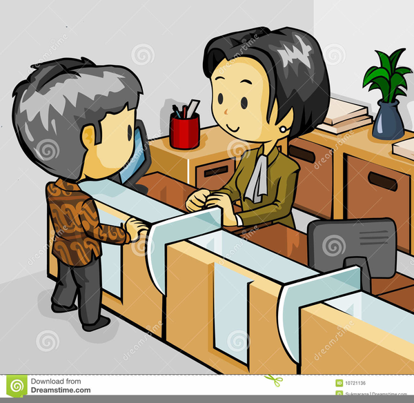 Woman Bank Teller Clipart Free Images At Clker Com