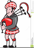 Cartoon Bagpipe Clipart Image