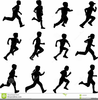 Running Children Clipart Image