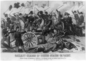 Gallant Charge Of United States Cavalry. Gallant Charge Of Lieutenant Tompkins Of The Second Cavalry, At Fairfax Court House, Va., On The Morning Of June 1, 1861 Image