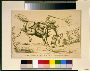 The Horse America, Throwing His Master Image