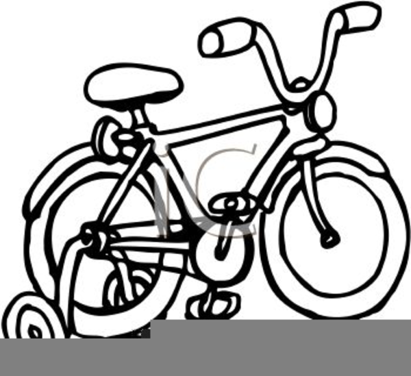 Bicycle With Training Wheels Clipart