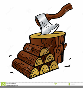 Wood chopping. Clipart free images at