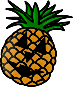 Pineapple Jack O Lantern Clip Art