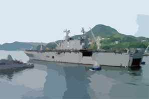 Uss Belleau Wood (lha 3) Departs Sasabo, Japan. Clip Art