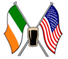 American Flag And Irish Cut Guinness Image