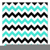 Turquoise Chevron Clipart Image