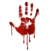 Bloody Handprint Clipart Image