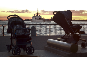 Baby Strollers Are Found Abandoned In Battery Park, Image