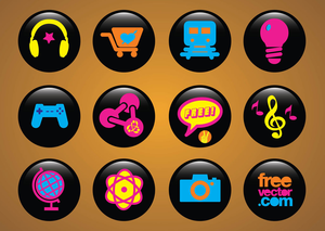 Freevector Icons Buttons Image