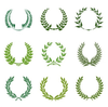 Green Laurel Wreath Set Image