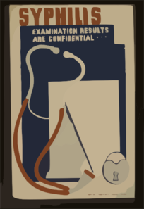 Syphilis--examination Results Are Confidential ... Clip Art