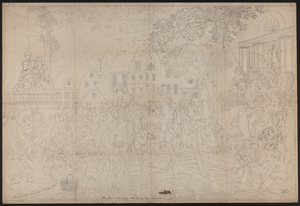 The Evacuation Day. New York Nov. 25 1783  / Designed & Painted By Vernon Fletcher, Phila. Image