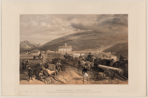 Commissariat Difficulties - The Road From Balaklava To Sevastopol, At Kadikoi, During The Wet Weather  / W. Simpson Del. ; E. Walker Lith. Image