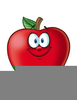 Smiling Apple Clipart Image