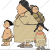 Native American Boy Girl Clipart Image