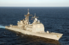 Uss San Jacinto Underway In The Mediterranean Sea. Image