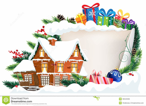 Christmas Clipart Snow House Image