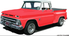 Old Chevy Truck Clipart Image