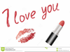 Red Lipstick Clipart Image