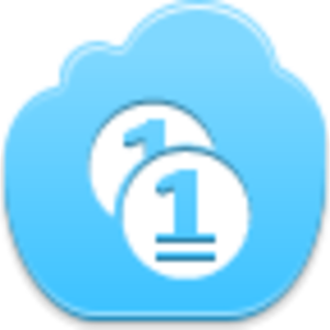 Free Blue Cloud Coins Image