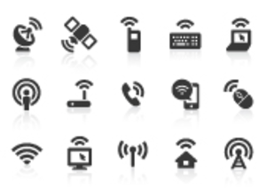 0091 Wireless Technology Icons Xs Image