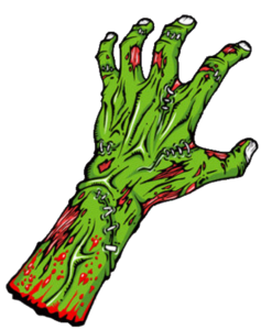 Zombie Hand Cut Image