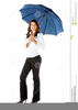 Woman Holding Umbrella Clipart Image