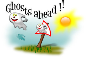 Ghosts Ahead Clip Art