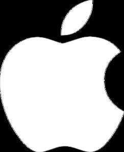 apple logo white background. white apple logo on black background clip art r