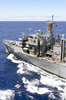 The Fast Combat Support Ship Uss Bridge (aoe 10) Transfers Mk-84 Joint Direct Attack Munitions (jdam) Bombs To The Aircraft Carrier Uss Nimitz (cvn 68). Image