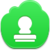Free Green Cloud Stamp Image