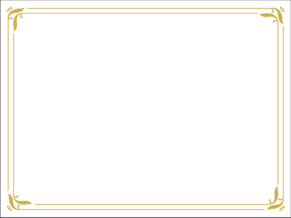 Simple Gold Certificate Border Slide Backgrounds Free