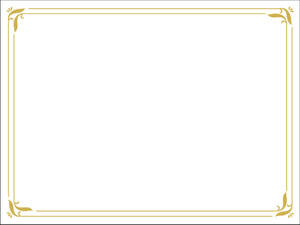 simple gold certificate border slide backgrounds image